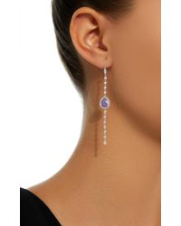 Meira T - 14k White Gold, Tanzanite And Diamond Earrings - Lyst