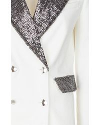 Genny - Sparkle Lapel White Blazer - Lyst