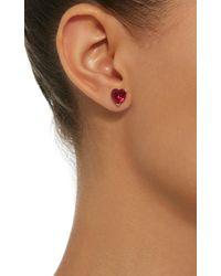 Anabela Chan - Red M'o Exclusive Ruby Love & Tears Stud Earrings - Lyst