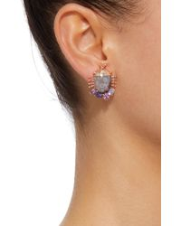 Daniela Villegas - Purple Careyes 18k Pink Gold, Sapphire And Ocean Jasper Earrings - Lyst