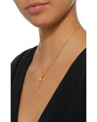 Wasson - Metallic Hoop & Pin 14k Gold Sapphire Necklace - Lyst