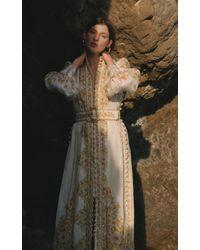 Zimmermann Multicolor Floral-print Linen Maxi Dress