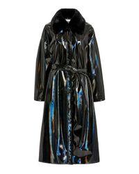 Apparis Black Mila Vinyl Coat