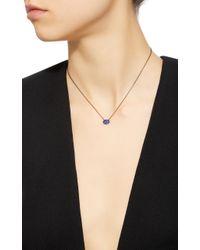 Colette - Blue Baby Les Chevalieres 18k Black Gold Sapphire Necklace - Lyst