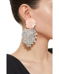 DANNIJO - White Rose Earrings - Lyst