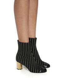 Marco De Vincenzo Black Striped Boot