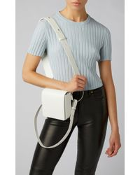 OSOI White Holring Leather Shoulder Bag