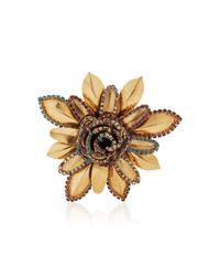 Erickson Beamon - Metallic Vermeil Bouquet 24k Gold-plated Crystal Brooch - Lyst