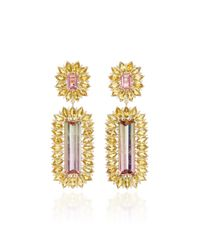 Jamie Wolf   Pink M'o Exclusive One-of-a-kind Floral Edge Drop Earring   Lyst