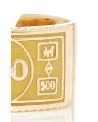 Alison Lou - Metallic Monopoly Stackable $500 Ring - Lyst