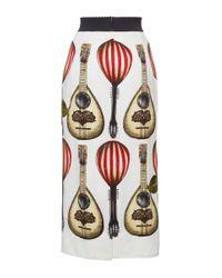 Dolce & Gabbana | Multicolor Mandolin Print Pencil Skirt | Lyst