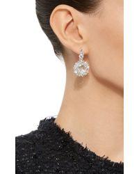 Suzanne Kalan | Metallic 18k White Gold White Diamond Vitrine Earrings | Lyst