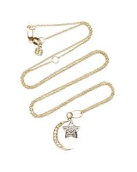 Sydney Evan | Metallic Yellow Gold Moon And White Gold Star Charm | Lyst
