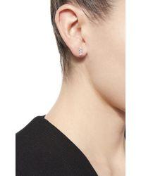 Anita Ko Metallic Three Dots Earrings