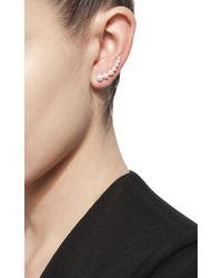 Anita Ko - Metallic Left Pearl Floating Earring - Lyst
