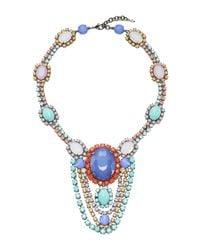 Sharra Pagano | Blue Drop Crystal Necklace | Lyst