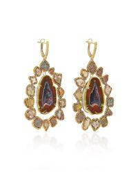Kimberly Mcdonald - Blue Geode And Diamond Slice Earrings - Lyst