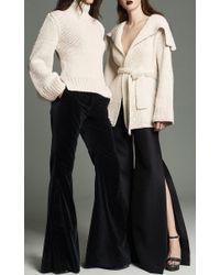 Marina Moscone White Handknit Wrap Cardigan