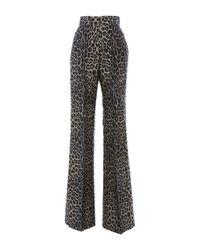 J. Mendel - Multicolor Wide Leg Flare Pant - Lyst