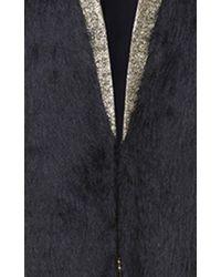 Genny - Black V-neck Coat - Lyst