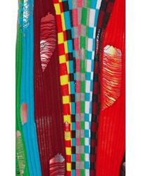 Wanda Nylon Red V Neck Knit Dress