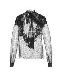 Zuhair Murad | Black Long Sleeve Chantilly Lace Blouse | Lyst