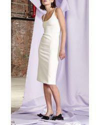 Cynthia Rowley   White Crepe Tank Dress   Lyst