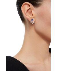 Hueb - Blue Labyrinth 18k White Gold, Diamond And Tanzanite Earrings - Lyst
