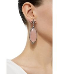 Amrapali - Pink Gold Star Drop Earrings With Diamonds, White Diamonds And Chalcedony - Lyst