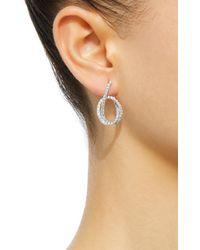 Kavant & Sharart | White Talisman Enternity Knot Earrings | Lyst