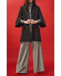 Paper London - Black Petal Relaxed Coat - Lyst