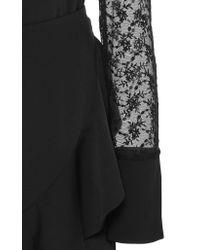 Goen.J Black Long Sleeve Wrap Dress