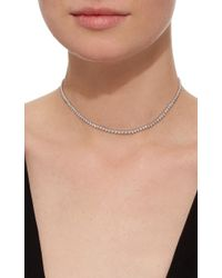 AS29 - Metallic Pear Shape Bolo Choker - Lyst