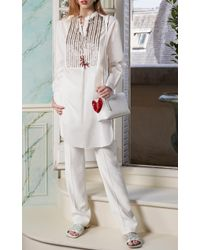 Paule Ka | White Bead Embroidered Tunic Dress | Lyst