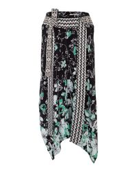 Dorothee Schumacher | Black Moving Florals Skirt | Lyst