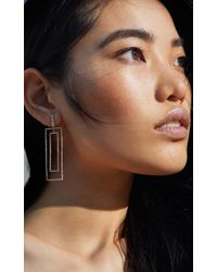 SHAY | Metallic Open Rectangle Drop Earrings | Lyst