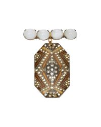 Lulu Frost | Metallic M'o Exclusive Vintage Antique Moonstone Cabochon Brooch | Lyst