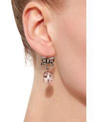 Montse Esteve - Pink 18k Gold Morganite And Diamond Earrings - Lyst