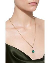 Savannah Stranger   Green Equator Charm With Gemfields Cabachon Emerald And White Diamond Pave   Lyst