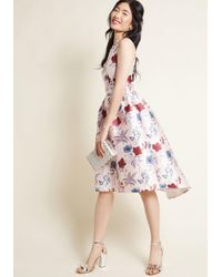 Chi Chi London Pink Look Luxe Fit And Flare Dress