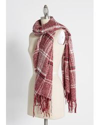 ModCloth Red Brr No More Scarf - Scholastic By