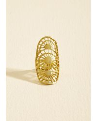 ModCloth | Metallic Versed In Sunbursts Ring | Lyst