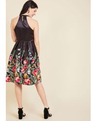 ModCloth | Multicolor Aplomb, Exemplified Fit And Flare Dress | Lyst