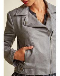 Jack BB Dakota Gray Revved Up Faux-suede Moto Jacket