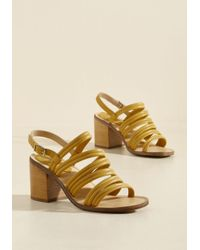 ModCloth | Multicolor Heel Me Out Sandal In Sunflower | Lyst