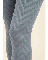 ModCloth | Blue Shape A Leg Leggings In Slate Chevron | Lyst