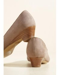 ModCloth - Natural Winning Workplace Peep Toe Heel - Lyst