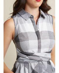 Appareline - Gray Patio Polish Shirt Dress In Greyscale - Lyst