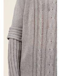 Sunny Girl Pty Lltd - Gray Bonfire Season Sweater In Ash - Lyst