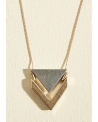 ModCloth - Multicolor Two The Point Necklace - Lyst